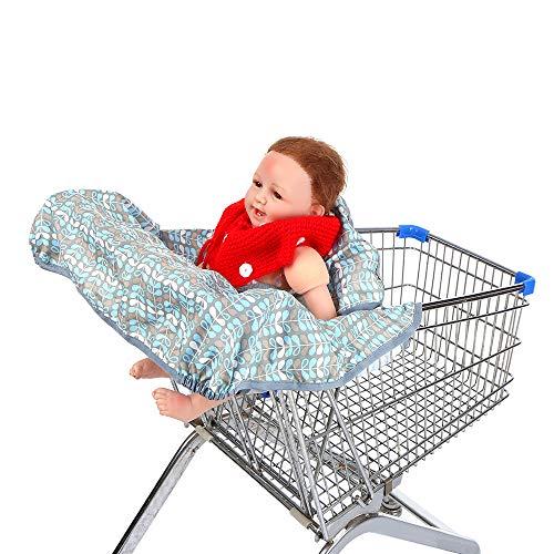 Decdeal Baby Einkaufswagen Abdeckung Faltbare Schutz-Abdeckung für Einkaufswagen mit Verstellbarem Sicherheitsgurt