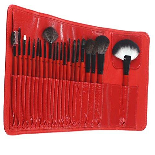 FantasyDay Professionnel 21 Pcs Pinceaux Maquillage Trousse - Pro Make Up Cosmétique Brosse / Brushes Kit avec Sac Pour Visage Blending Fondation Blush Eyeliner Poudre