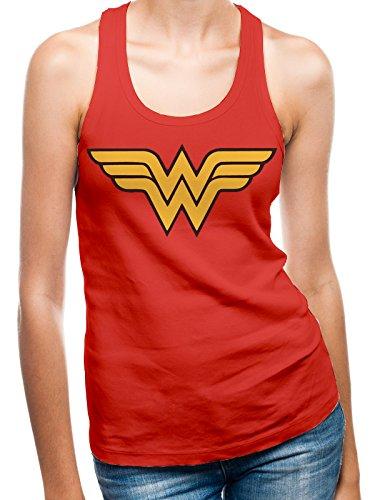 I-D-C CID - Camiseta para Mujer con la Insignia de Wonder Woman, Mujer, PE12168WVCPX, Multicolor, FR : XL (Taille Fabricant : XL)