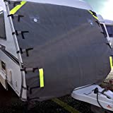 ELUTO Wohnmobil-Abdeckung Frontautoabdeckung Wohnwagen Schutzhülle Schutzhaube für Campingmobile Einstellbar 264x198cm