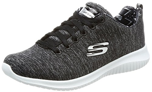 Skechers Damen Ultra Stretch-First Choice Sneaker, Schwarz (Black/White), 39 EU