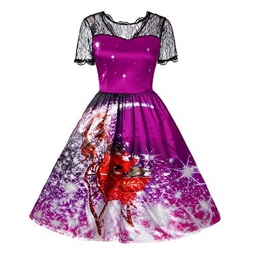 MRULIC Damen Cocktailkleid Brautjungfernkleid Abendkleid Empire Chiffon Bandeau Unregelmäßiges Kleid(A4-Violett,EU-44/CN-2XL)