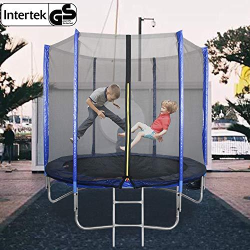 Hengda Trampolín Ø305cm Intertek/GS Seguridad, Postes Acolchados para la Red y Revestimiento para Borde, Unisex niños Cama elástica Infantil