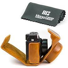 MegaGear-Ever Ready-Custodia protettiva in pelle per fotocamere Fujifilm X 30, colore: marrone chiaro