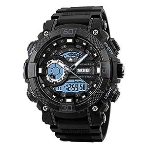 SKMEI Analog-Digital White Dial Men's Watch-1228 Black