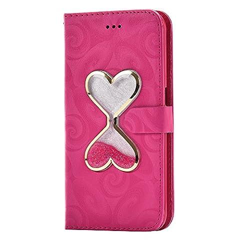 Housse Samsung S6 Edge, SpiritSun Etui en PU Cuir Portefeuille