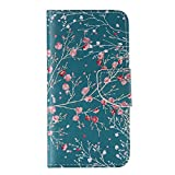 Nancen Sony Xperia Z5 Compact / Z5 mini (4,6 Zoll) Handy Lederhülle, Flip Case Wallet Cover with Stand Function, Folio Bookstyle Handytasche Soft Silikon Bunte Muster Tasche PU Leder Slim Shell Handyhülle.