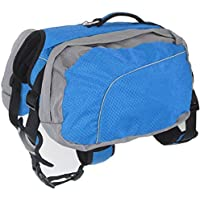 Epeanhome Hund Rucksack Leicht und Wasserdicht Haustier Verstellbar Satteltasche Hundegeschirr Carrier mit Abnehmbarer Taschen für Outdoor-Reise Wandern Camping Training ( XL )