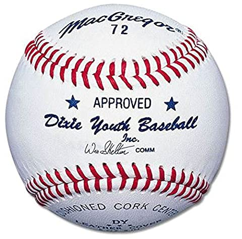Macgregor Youth 72 Official Dixie Baseball (One Dozen) by