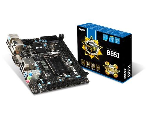 Msi Mini Itx (MSI B85I Mainboard (MINI ITX, DDR3 Speicher, VGA, DVI, HDMI))