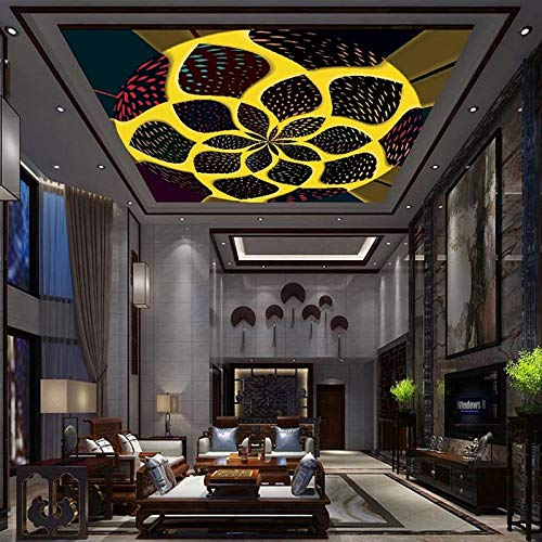 Fototapete 3D Effekt Benutzerdefinierte 3D Fototapete Decke Wandbilder Tapeten Wohnkultur Moderne Mode Wohnzimmer Ktv Bar Decke Tapete Wandbild 300X210 Cm