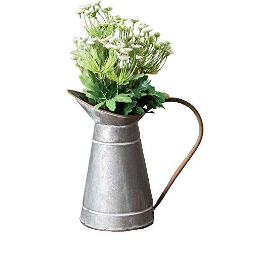 R.E.D Rustikaler Stil verzinktem Milchkännchen Metall Vase Krug