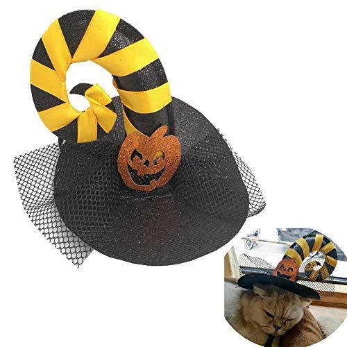 Kopfbedeckung für Katzen-Hund mit Eleganter und Lustiger Form für Halloween-Weihnachten ()