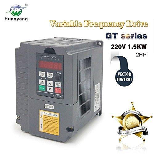 Vektorregelung ,Computerized Numerical Control (CNC), Frequenzumrichter (VFD),der Motor Inverter Konverter 220V 1.5KW 2PS für Spindelmotor, Kontrolle der Geschwindigkeit,Huanyang GT –Serie (220V,1.5KW).