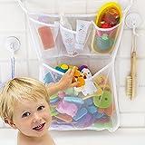 Jansroad añera de baño cuarto de baño juguete Red de malla bolsa de almacenamiento organizador soporte Con 2 piezas Bonus Ventosas Fuertes -Ideal para niños pequeños y adultos