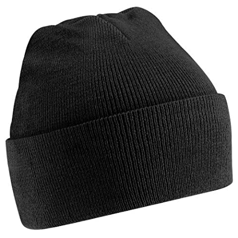 Beechfield Unisex Junior Kids Knitted Soft Touch Winter Hat (One Size) (Black)
