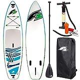 "F2 SUP Wave Premium 10,5"" Stand UP Paddle Board AUFBLASBAR PADDEL Bag PUMPE"