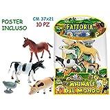 Teorema Giocattoli- Animali Fattoria con Poster 10 Pezzi, Multicolore, 3.TE70711