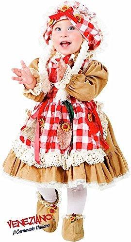 Italian made Mädchen Deluxe Vogelscheuche Karneval Buch Tag Woche Halloween Kostüm Kleid Outfit 0-3 Jahre - 1 year (Vogelscheuche Kleinkind Kostüme)
