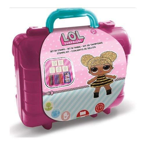 Multiprint lol surprise valigetta travel kit con timbri accessori scuola