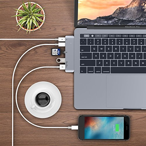 51f0eUh5KPL - [Amazon.de] EgoIggo USB-C Hub Aluminium mit Thunderbolt 3 für MacBook Pro 2016/2017 nur 29,69€