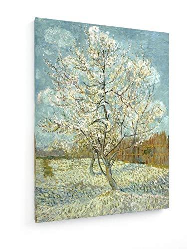 weewado Vincent Van Gogh - El árbol de melocotón Rosado - 30x40 cm - Impresion en Lienzo - Muro de Arte - Canvas, Cuadro, Poster - Old Masters/Museum