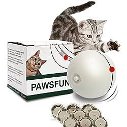 juguete gato luz,juguete gato bola,juguete gato ball,Juguete gato para Animales Pet Mascotas Perro Gato, Pet Ball Juguetes, Bola Interactiva para Mascotas Jugar Ejercicio-Bola de luz giratoria electrónica LED (rojo) [9 baterías ]