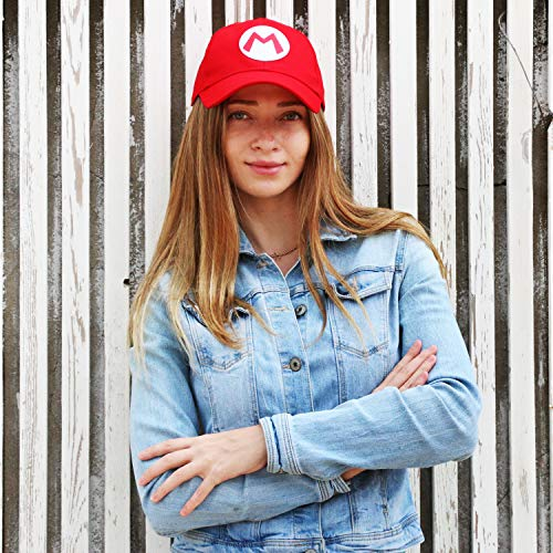 Kostüm Cosplay Hut (CASA CLAUSI Rot leuchtender Hut Cosplay Kostüm Cap)