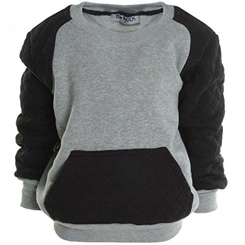 BEZLIT -  Felpa con cappuccio  - Camicia - Collo a U  - Maniche lunghe  - ragazzo grigio 4 anni
