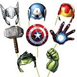 Party Propz Avengers Photobooth (Set of 8) for Avenger Theme Birthday