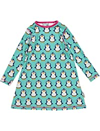 maxomorra Mädchen Kleid mit Pinguinen Modell Penguin