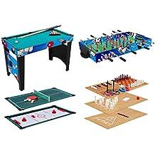 Multigame Tisch 4 in 1 Multi Spieltisch Profi Tischkicker Multifunktionstisch