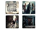DC Comics Justice League Movie en Isorel sous-verres-Aquaman Batman Flash Cyborg Wonder Woman