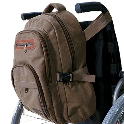 YAOBAO Rollstuhlrucksack, Mehrzwecktasche für Rollstühle, Seitentaschen für Getränke und lose Gegenstände, Tragegriff Passt an die Rückseite der meisten Rollstühle