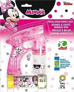 Dulcop-500.092000-Minnie Mouse-Pistola de Burbuja-Luz y Sonido-14,4x 12,1x 5,2cm-Tubo de jabón-60ml