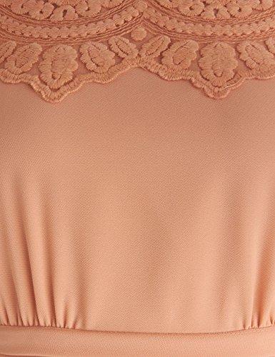 Dressystar Robe de soirée/bal courte avec Appliques en mousseline Raisin