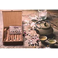 Jarved Organic Teas of The World Wooden Assorted Gift Box Set - 250 Cups | 10 Varieties of Black, Green, Masala, Turkish, Herbal Tea| Unique Gift for Men, Women, Anniversary, Birthday, Office