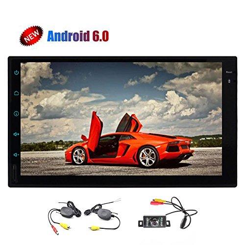 Retrovisor c¨¢mara inal¨¢mbrica + Pure Android est¨¦reo 6.0 con el GPS navegaci¨®n...
