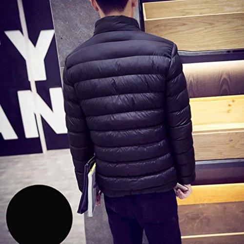 Vêtements homme, Yogogo Hommes Hiver Manteau moussant épais et épais Vêtements d'extérieur Manteau de duvet isolé Rouge
