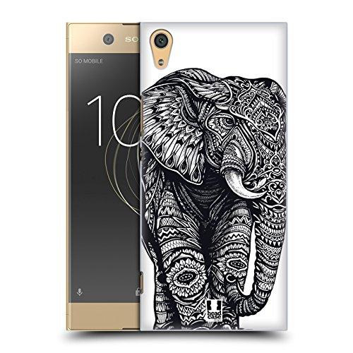 Head Case Designs Elefant Kunstvolle Tierwelt Ruckseite Hülle für Sony Xperia XA1 Ultra/Dual