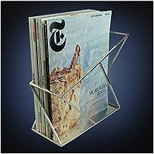 ArtsOnDesk Arte Moderno Revistero mr114 Acero Inoxidable Espejo Pulido Patentes Solicitada--Archivador Porta Periódico Documento Libro Estante de Folletos Caja Organizadora Canasto Regalo de Navidad