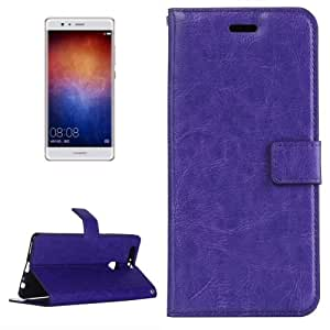 Crazy4Gadget For Huawei P9 Plus Crazy Horse Texture Horizontal Flip PU Leather Protective Case with Holder & Card Slots & Wallet & Photo Frame (Purple)