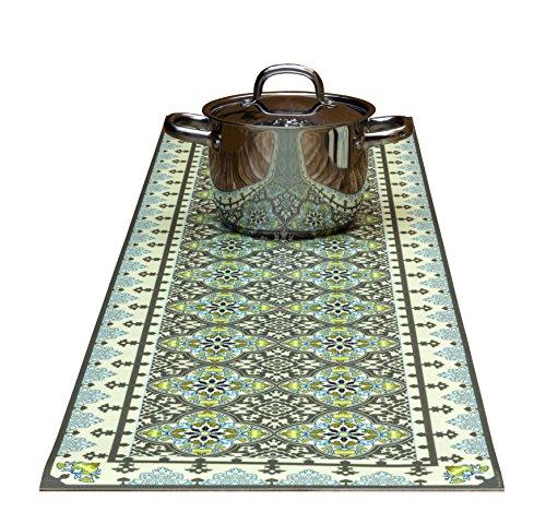 The Nisha Table Runner Dekorative Untersetzer und Küchen-Tischläufer kann bis zu 185°C erhitzen, Rutschfest, handwaschbar und praktisch für heiße Speisen und Töpfe, 135cm x 35cm, Victoria