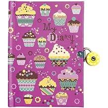 Mudpuppy - Diario con llave, diseño cupcakes (MPDI29669)