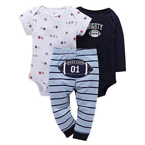 LEXUPE Baby Mädchen, 3Pcs Neugeborene Kleinkind SäUglings Baby Druck Strampler Tops Hosen Outfits Kleidung Eingestelltes