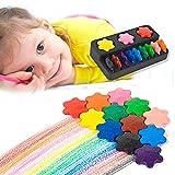 Kreative 12 Farben Crayon Saugkarte Schneeflocke/Ring Modellierung Kunst Kinder Früherziehung Puzzle Pinsel Puzzle Kinder Schreibwaren (Schneeflocke)