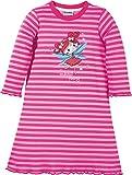 Kinderbutt Nachthemd mit Druckmotiv Elfe Interlock-Jersey gestrickter Ringel rosa Größe