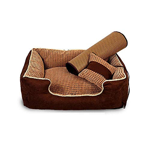 GHHZZQ Deluxe Pet Beds Machine Wash & Dryer Friendly Premium Orthopedic Lounge Sofa Removable Cover (Color : Brown, Size : XL(120x90x26CM)) - Xl Deluxe Speicher