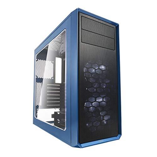 Fractal Design Focus G Blue Window, PC Gehäuse (Midi Tower mit seitlichem Fenster) Case Modding für (High End) Gaming PC, blau