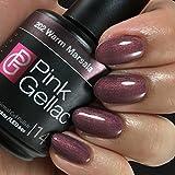 Pink Gellac Gel-Nagellack Shellac, Reminiscence Kollektion 15ml UV Nagellack farbiger Nagellack Nagellackfarben (202 Warm Marsala)